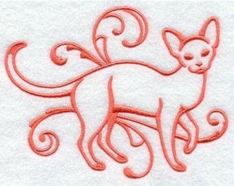 Devon Rex Cat - Embroidered Womens Plus Size 1x 2 x 3 x 4x or 5x Sweatshirt
