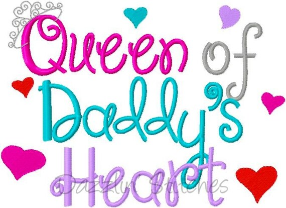 Baby girl or little embroidery design queen of