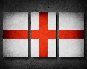 The Original England Flag Triptych