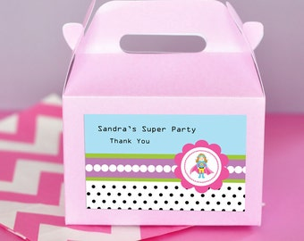 Supergirl Birthday Party Favors Supergirl Favor Box Birthday Goody Bags Kids Birthday Party Favors (EB2313SHG) - 24 pcs