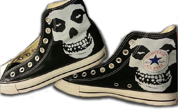 Custom All Stars >> The Misfits Custom Converse All Stars