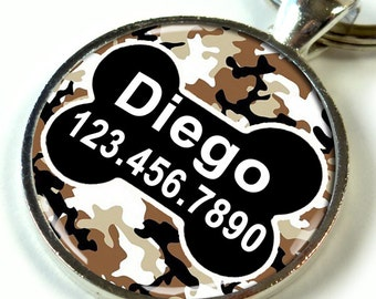 pet tags custom pet id tag unique pet id tag dog tag cat tag camouflage