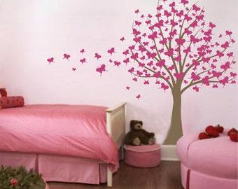 Butterfly Tree -vinyl wall decor