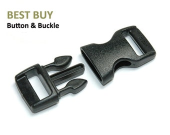 "10 Pieces 3/8"" Safety Breakaway Side Release Plastic Buckles Paracord  #PSREA10A"