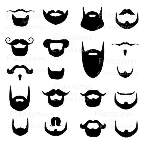 digital beard clip art clipart beard silhouette card
