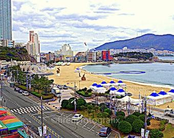 Autumn morning at Songdo Beach, Busan Korea