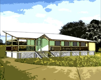 Shipping Container Home Plans 2 Bed 1 Bath - Schematic Design 750 sf