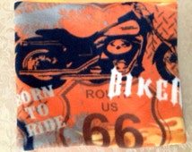 Biker Route 66 Born to Ride neck Gaiter neck sock face mask ear warmer  Harley Davidson motorcycle, camping, hiking, motorcrossing