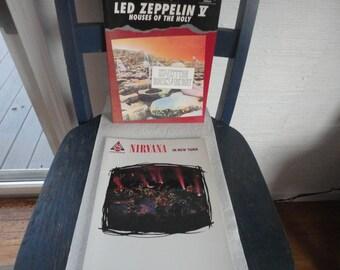 led zeppelin and nirvana sheet music books.