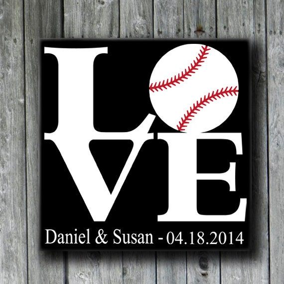 Baseball Wedding Gifts: Items Similar To Love And Baseball,Personalized Wedding
