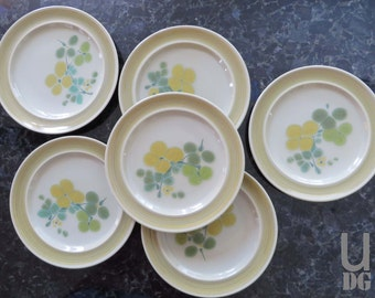 "Vintage Franciscan Earthenware Pebble Beach 8-3/8"" Salad Plates, set of 6"