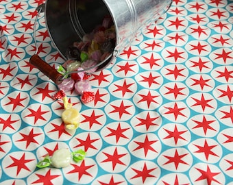 Oxford Cotton Fabric Star Circle By The Yard