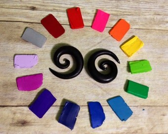 8mm - 25mm Solid Spiral Earrings for Stretched/Gauged Ears