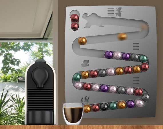 support mural nespresso donkey kong pour capsules de caf. Black Bedroom Furniture Sets. Home Design Ideas
