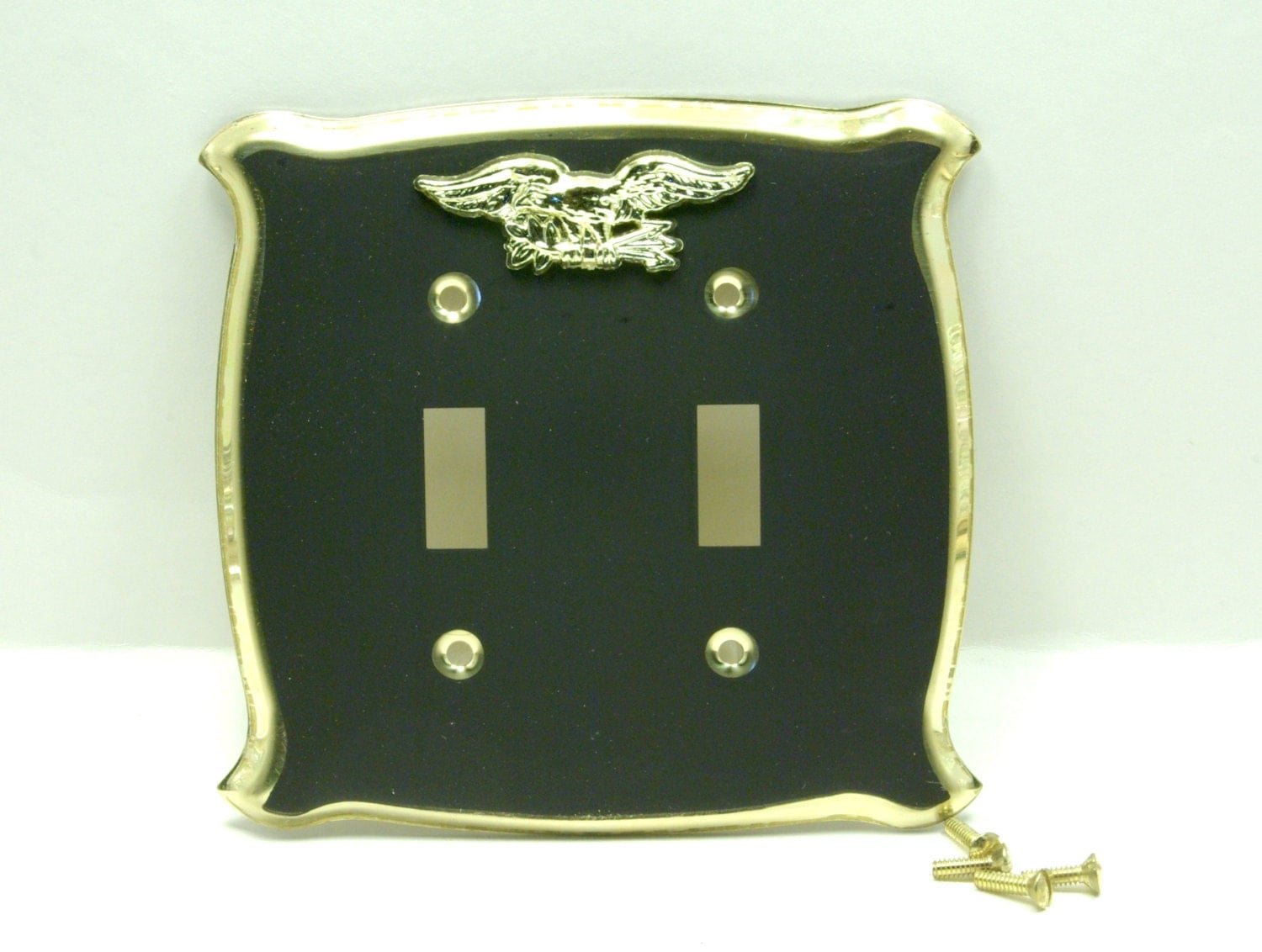 Vintage Black Metal Light Switch Wall Plate Cover 2 By