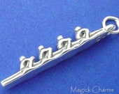 ROWING TEAM Charm, Boat Racing, Crew Olympics .925 Sterling Silver Charm