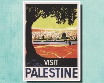 VISIT PALESTINE Travel Poster by Franz Kraus 1936 - SG2491