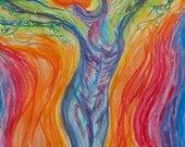 Tree Goddess: Connecting Spirit and Body art print