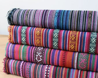 Colorful Stripe Fabric Aztec Fabric Tribal Fabric Ethnic Fabric Native Fabric Boho Bohemian Fabric Home Decor Upholstery Fabric -Half Yard