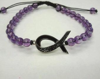 Sterling Silver Melanoma Cancer Bracelets Bead Cancer Awareness