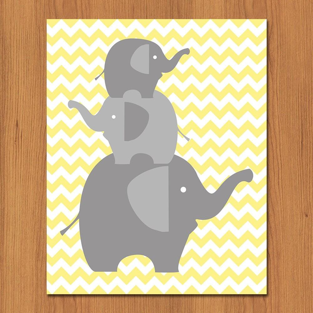 Elephant Nursery Wall Art - Elitflat