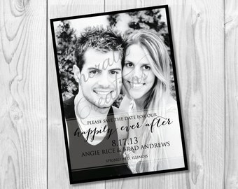 DIY Printable Save the Date/ Photo Save the Date / Custom Wedding Save the Date