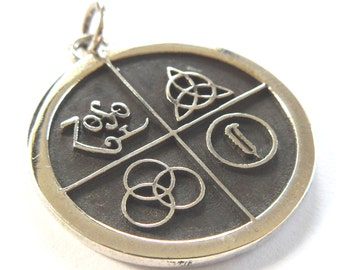 Led Zeppelin Four Symbols Pendant sterling silver 925