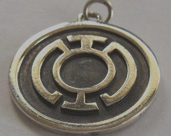 Blue Lantern Corps (Hope)  Green Lantern Pendant Sterling Silver 925
