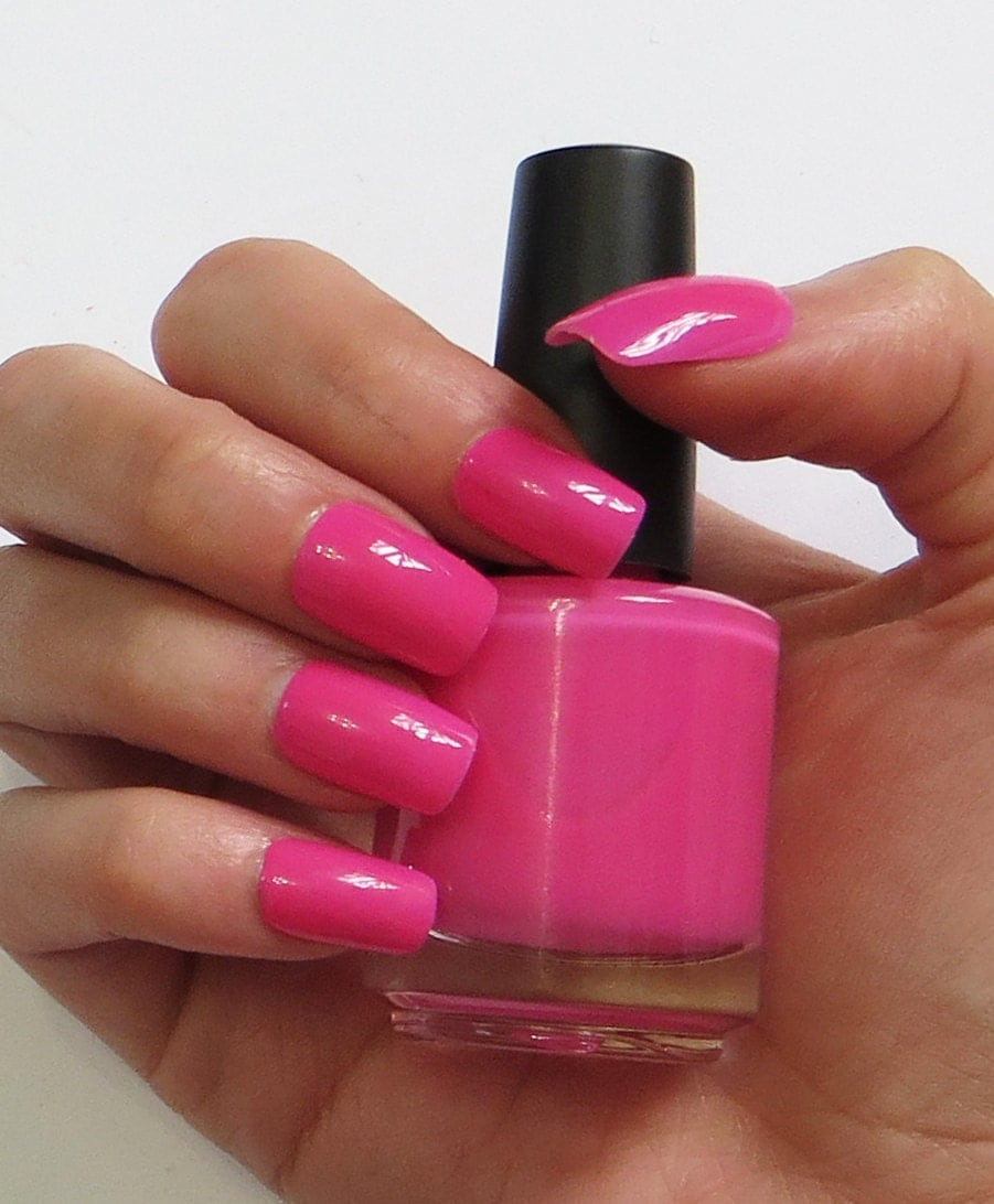 Pink Nail Polish Mini: Hot Pink Nail Polish Cupid's Arrow Mini Bottle