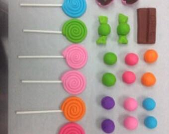 Fondant Candy Pieces