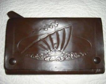 Vintage Tooled Leather Bag