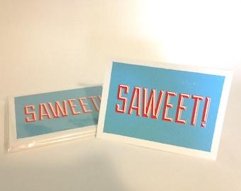 Saweet! Screenprinted Card Set