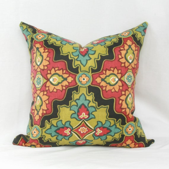 Red Green Throw Pillow : Items similar to Red & green indoor/outdoor throw pillow cover. on Etsy