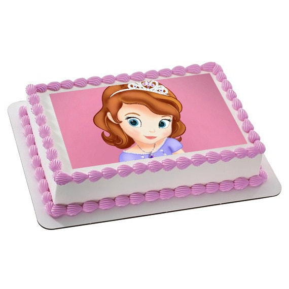 Items similar to Princess Sofia Personalized edible image ...