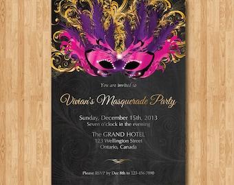 Masquerade invites | Etsy