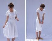 Every Day dress, Bridal Boho, White Cotton dress, T Shirt dress, Little Black Dress, Casual Sundress, Knee length dress, Plus Size