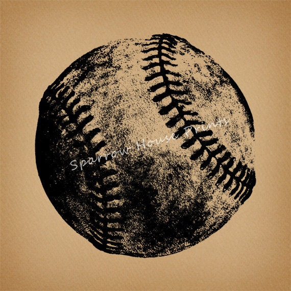 Vintage Baseball Wall Decor : Vintage baseball print sports wall art antique with