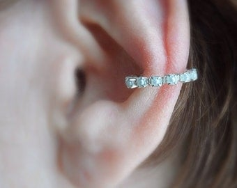 Silver and Pearls Ear Cuff Ring, single ring, no ear piercing needed.