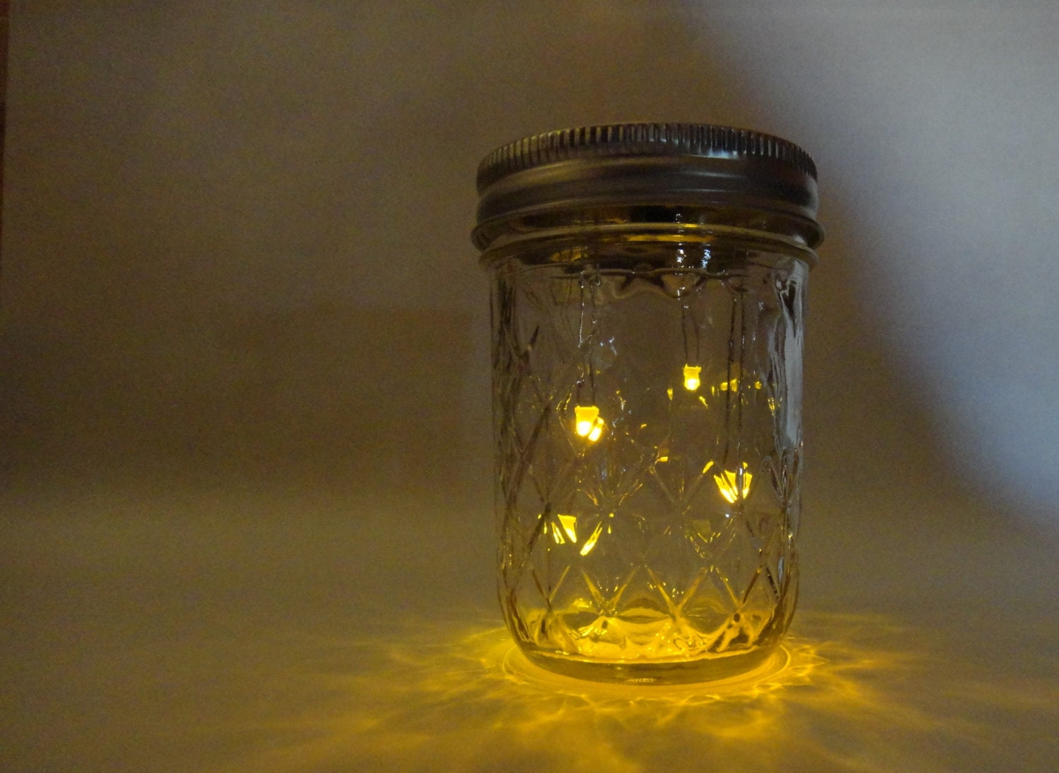 firefliesan electronic animated firefly jar hand made by the. Black Bedroom Furniture Sets. Home Design Ideas
