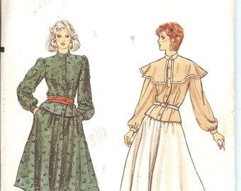 Vogue 8389  Misses Blouse and Skirt sewing pattern ID37