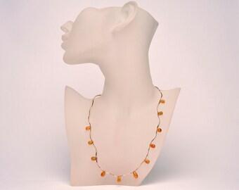 Teardrop Necklace Citrine