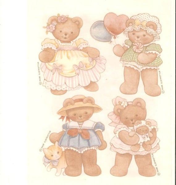 Butterfield Bears For Kids Iron On Transfers 4 Sheets 1985 Current Inc.