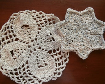 Dish/Wash Cloths - Set of 2 - Potpourri! - 100% Cotton - Hand Crocheted - Kitchen - Bathroom - Cleaning - House Warming - Wedding