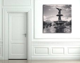 New York Photography - Central Park - Bethesda Fountain - Large Wall Art - New York City Canvas - Black and White - Wall Art - Gift Ideas