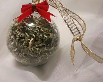 Glass Money Ornament with Recycled 100's