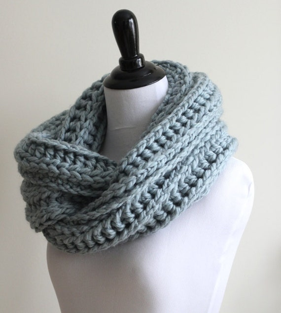 ... scarf, circle scarf, warm and cozy, chunky knit scarf, knit neutral