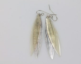"""Colourful Silver and Resin Earrings """"Yellow Dragonfly"""""""