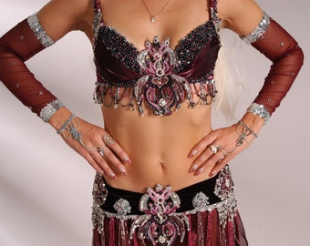 "Costume for oriental dance ""Amethyst"""
