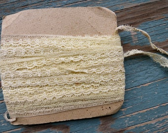 Vintage Light Yellow Lace Trim