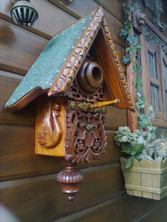 carved bird house. Black Bedroom Furniture Sets. Home Design Ideas